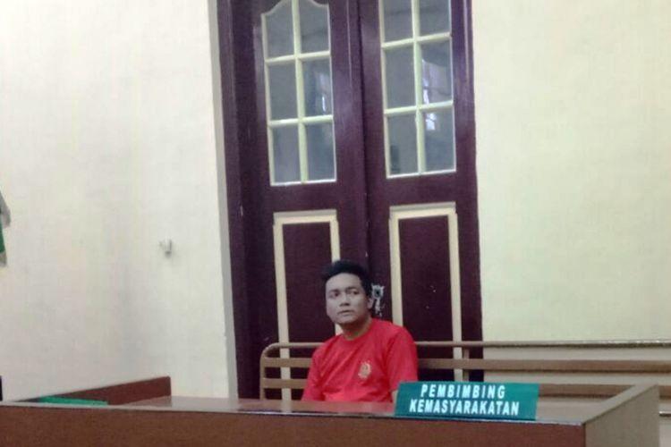 Khaireyll Benjamin alias Benji (38), aktor Malaysia yang ditangkap di Bandara Kualanamu karena membawa sabu di duburnya, Rabu (04/10/2017)