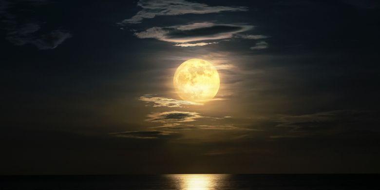 Ilustración de luna llena.