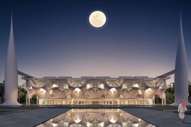 Mosque of Light di Dubai.