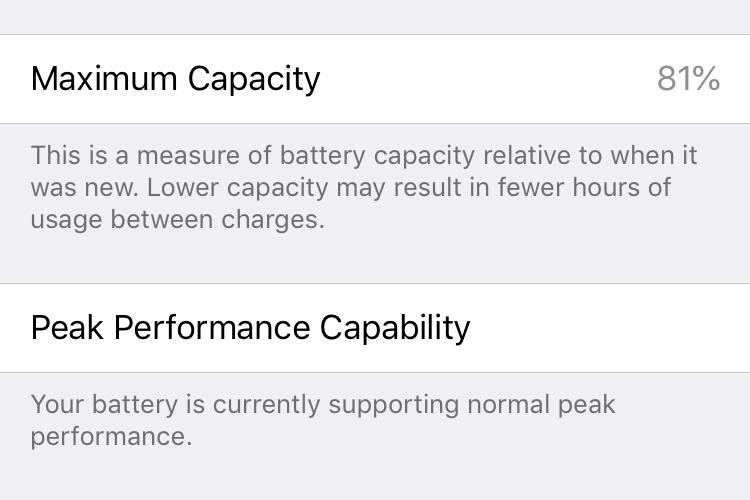 Ilustrasi menu Battery Health di pengaturan iPhone.