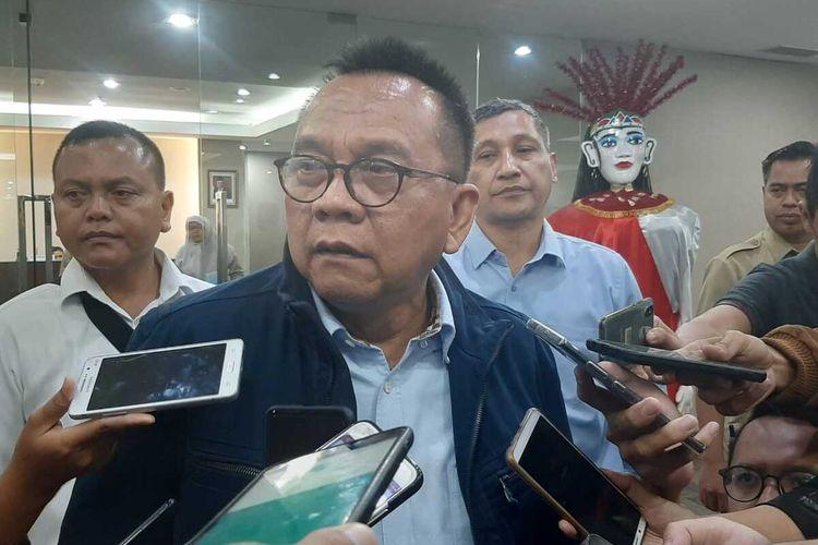 Wakil Ketua DPRD DKI dari Fraksi Gerindra Mohammad Taufik di lantai 10, Gedung DPRD DKI, Senin (17/2/2020)