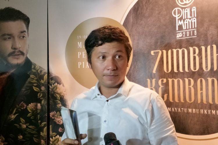 Artis peran Gading Marten saat ditemui di Malam Penghargaan Piala Maya 7 di Wyndham Casablanca Hotel, Jakarta Selatan, Sabtu (19/1/2019).