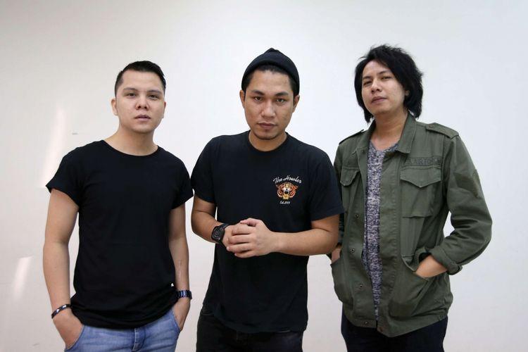 Band Armada saat kunjungan ke redaksi Kompas.com, Jakarta, Jumat (6/7/2018).