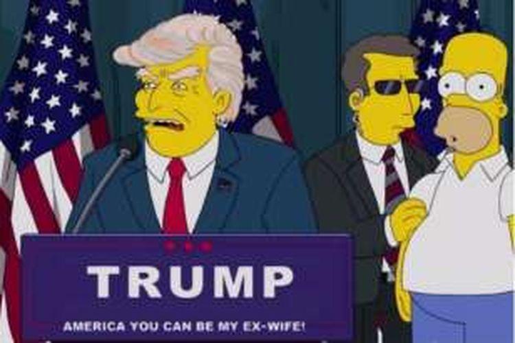 Serial animasi 'The Simpson' pernah menampilkan Donald Trump sebagai presiden AS.