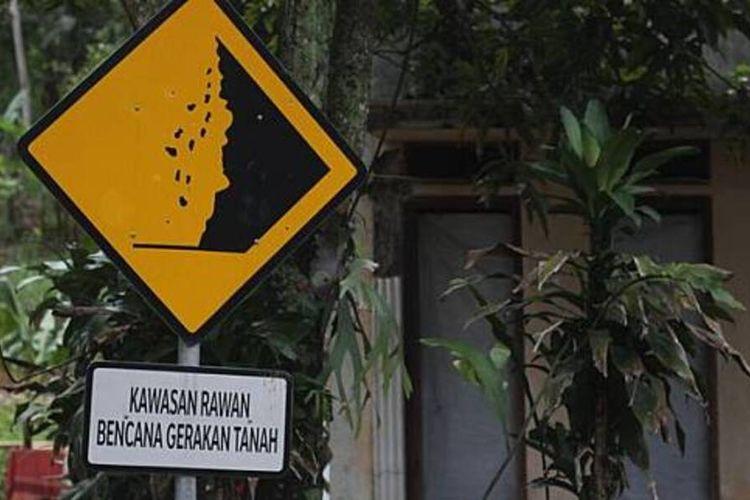 Salah satu lokasi rawan bencana di wilayah Kabupaten Cianjur, Jawa Barat, Jelang akhir tahun, Cianjur dihadapkan pada ancaman bencana hidrometerologi.