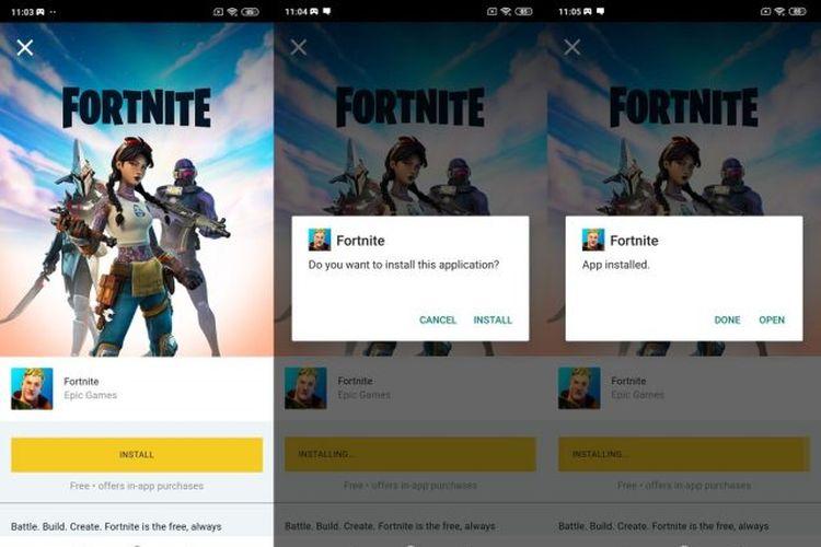 Cara memasang aplikasi Fortnite pada ponsel Android