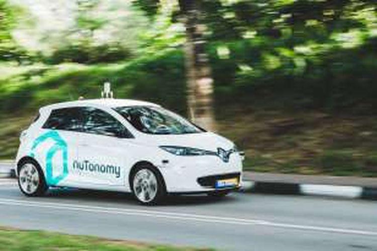 Taksi tanpa supir diuji coba untuk pertama kalinya di Singapura oleh perusahaan Nutonomy.