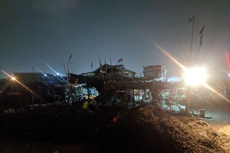 Lokasi Posko Ormas FBR di Kalibaru, Cilincing, Jakarta Utara, Selasa (29/10/2019).