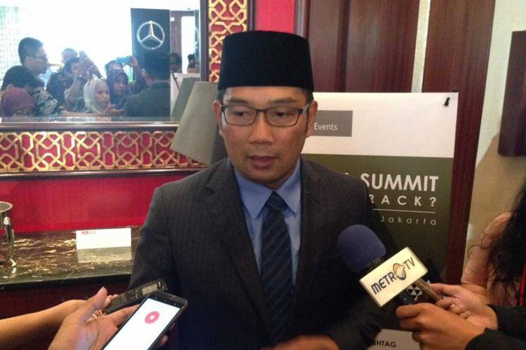 Walikota Bandung Ridwan Kamil saat ditemui di Hotel Shangri-La Jakarta, Kamis (20/4/2017). 