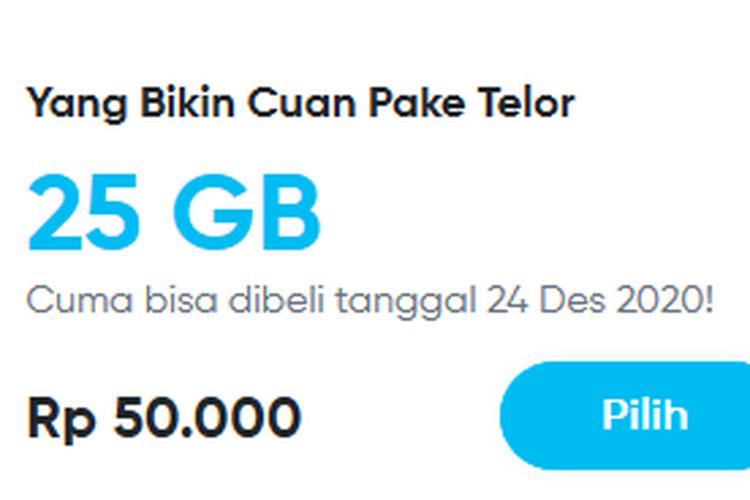 By.U tawarkan paket promo internet 50 GB dengan banderol harga Rp 50.000
