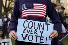 Pemilu Amerika, Puluhan Pendukung Trump di Detroit Teriak