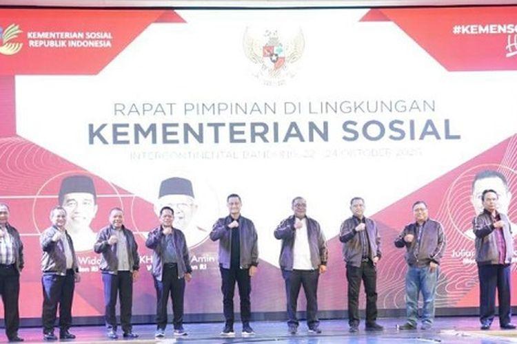 Rapat Pimpinan di Lingkungan Kementerian Sosial, Sabtu (24/10/2020).