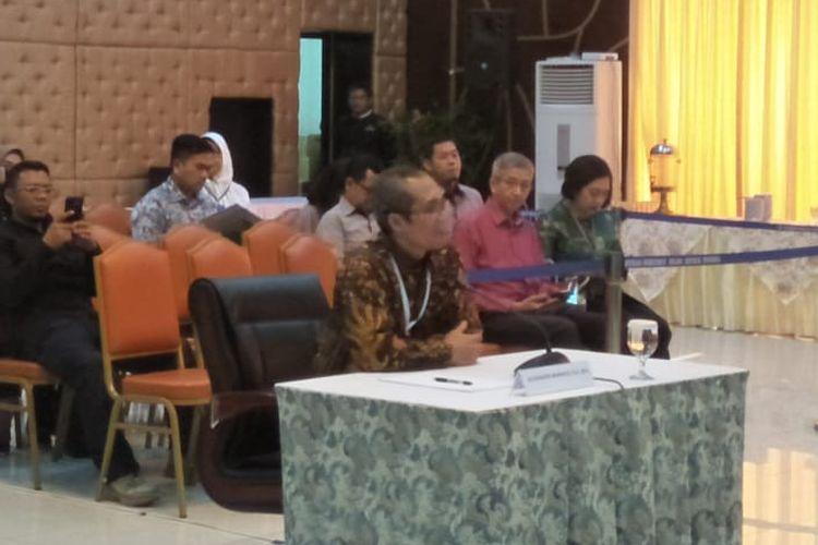 Calon Pimpinan Komisi Pemberantasan Korupsi (KPK), Alexander Marwata,saat tes wawancara dan uji publik seleksi capim KPK di Gedung Kementerian Sekretariat Negara, Jakarta Pusat, Selasa (27/8/2019).