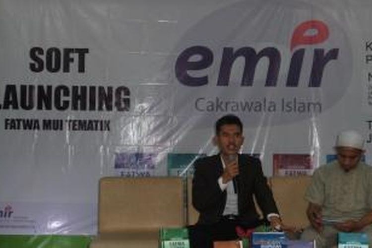 Juru bicara Majelis Ulama Indonesia (MUI) Asrorun Ni'am Sholeh saat acara soft launching buku