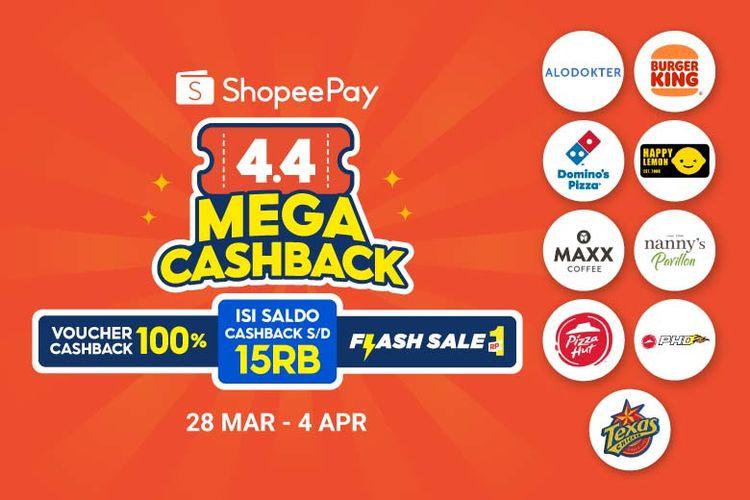 ShopeePay 4.4 Mega Cashback.