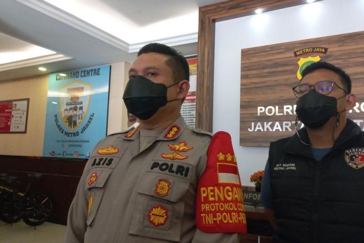 Kapolres Metro Jakarta Selatan Kombes Azis Andriansyah saat ditemui di Mapolres Jakarta Selatan, Minggu (5/9/2021).