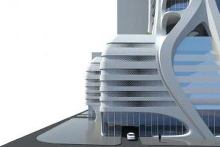 Gedung apartemen bernama One Thousand Museum ini memiliki ketinggian 215 meter dan menghimpun 60 lantai.