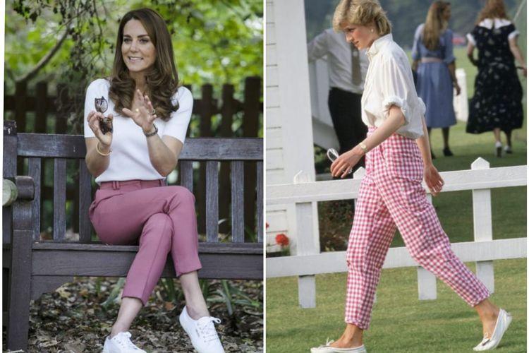 Penampilan Kate Middleton memang kerap kali dibanding kan dengan gaya ibu mertuanya, Putri Diana.