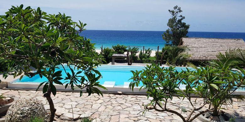 Hotel Mario berada di Pantai Kita Mananga Aba, Desa Ramadana, Kecamatan Loura, Kabupaten Sumba Barat Daya, Nusa Tenggara Timur, Sabtu (2/6/2018).