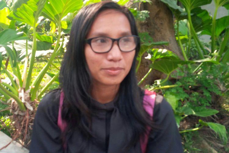 Ni Made Aryanti Putri (22) atlet disabilitas cabor lari raih dua medali perak Asian Para Games 2018, saat ditemui di Solo, Jawa Tengah, Sabtu (20/10/2018).