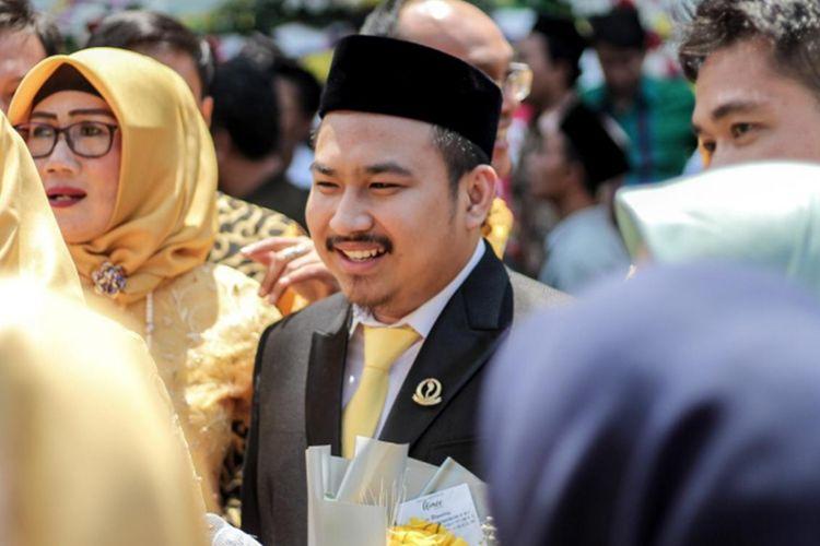 Reynaldy, anggota DPRD Jabar termuda saat hadir dalam pelantikan DPRD Jabar periode 2019-2024 di Gedung Merdeka, Kota Bandung, Senin (2/9/2019) kemarin.
