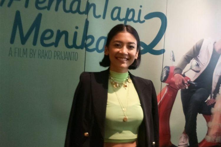 Canti Tachril saat ditemui usai screening film Teman Tapi Menikah 2 di XXI Plaza Indonesia, Jakarta Pusat, Minggu (23/2/2020).