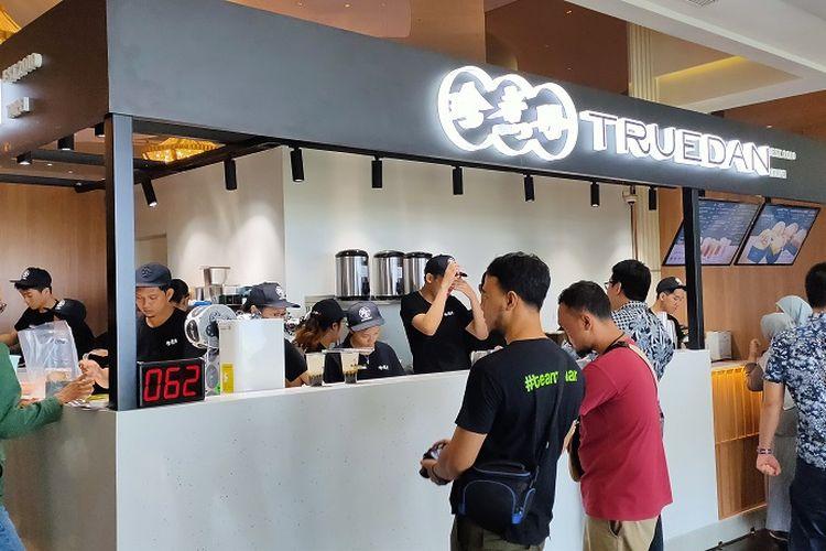 Gerai Boba Truedan di Mal Taman Anggrek, Jakarta, yang baru diluncurkan, Jumat (29/11/2019).