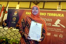 KPU Jatim Tetapkan Khofifah-Emil sebagai Gubernur dan Wagub Terpilih