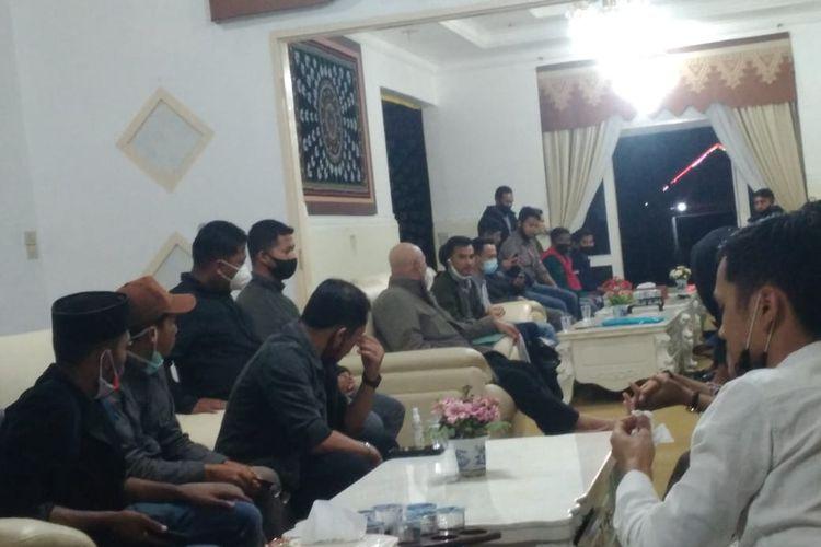 Suasana pertemuan antara GP-ALA dengan Bupati Aceh Tengah, Shabela Abubakar, Kamis (1/10/2020)