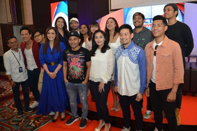 Suasana jumpa pers RCTI 29 Anniversary Celebration di MNC Studios, Kebon Jeruk, Jakarta Barat, Rabu (15/8/2018).
