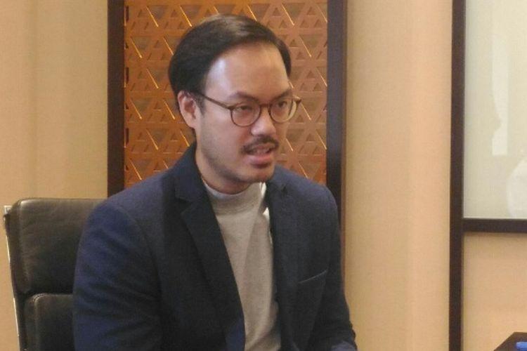 CEO sekaligus Founder Agregator fintech syariah ALAMI Dima Djani, di Jakarta, Jumat (18/5/2018).