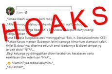 [HOAKS] Mantan Gubernur Jawa Timur Soekarwo Meninggal Dunia