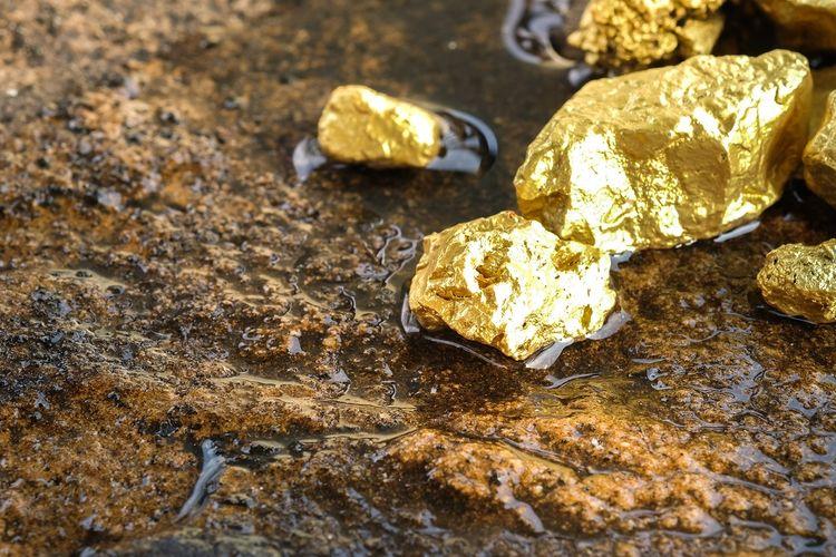 Ilustrasi emas yang ditemukan di tambang.