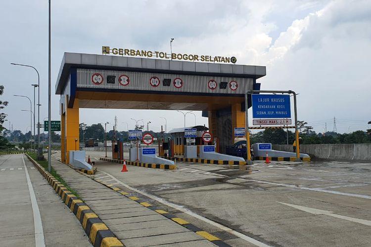 Gerbang Tol (GT) Bogor Selatan sebagai Off Ramp KM 42+500 Tol Jagorawi.
