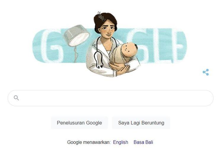 Ilustrasi Google Doodle Marie Thomas.