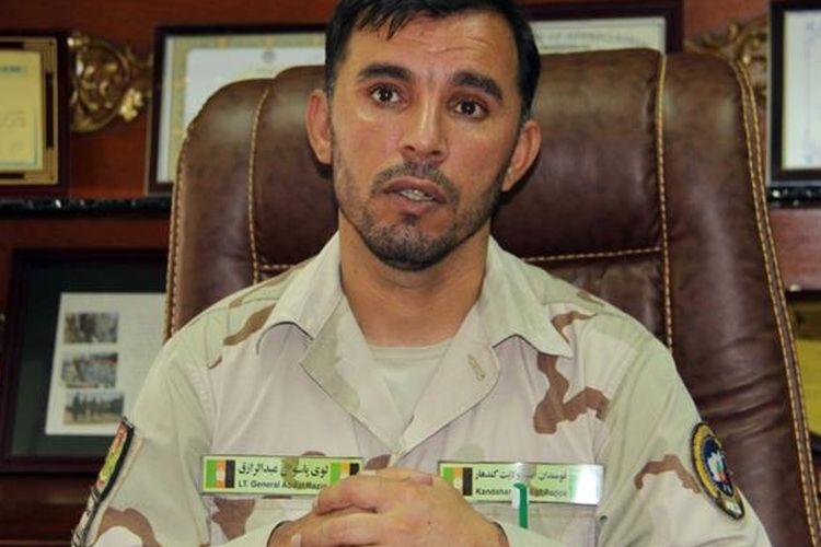 Jenderal Abdul Raziq, salah satu pejabat militer terkuat Afghanistan, tewas dalam serangan Taliban.