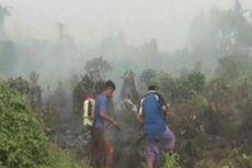 Lahan Gambut Terbakar, Mamuju Utara Dipenuhi Kabut Asap