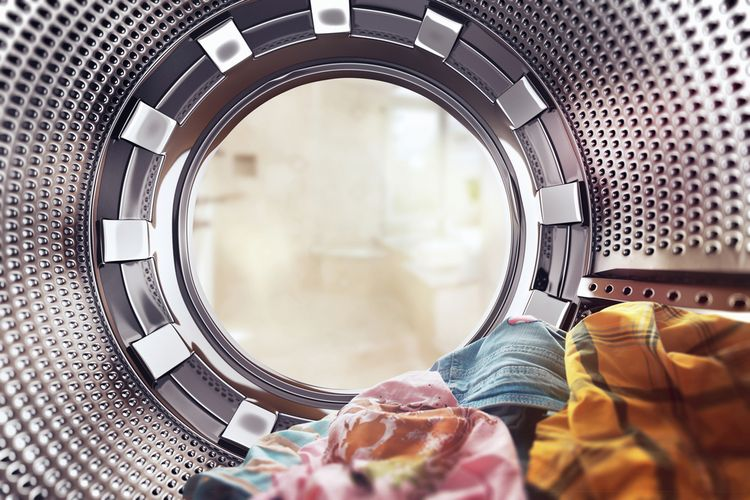 iIlustrasi mesin cuci.