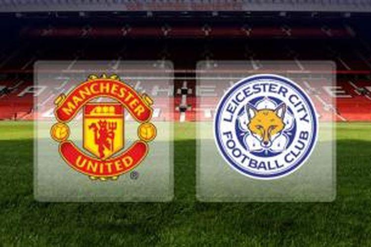 Ilustrasi pertandingan Premier League antara Manchester United dan Leicester City, yang akan digelar di Old Trafford, Sabtu (31/1/2015).
