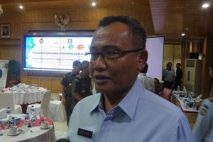 Direktur Jenderal Pemasyarakatan Kementerian Hukum dan HAM I Wayan Kusmiantha Dusak saat ditemui di kantor Kemenko Polhukam, Jakarta Pusat, Senin (13/2/2017).