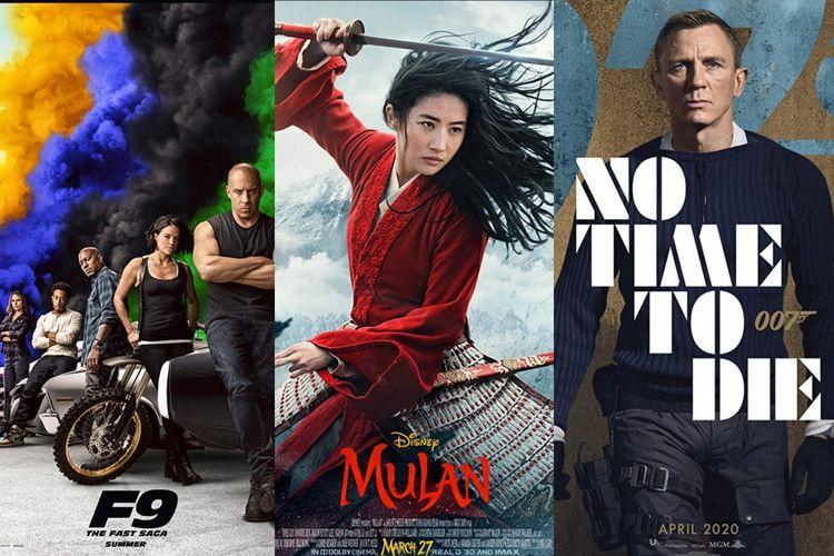 Film Fast & Furious 9, Mulan, dan Not Time to Die.