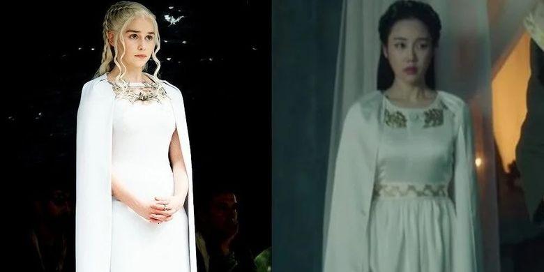 Perbandingan gambar tayangan Arthdal Chronicles dan Game of Thrones.