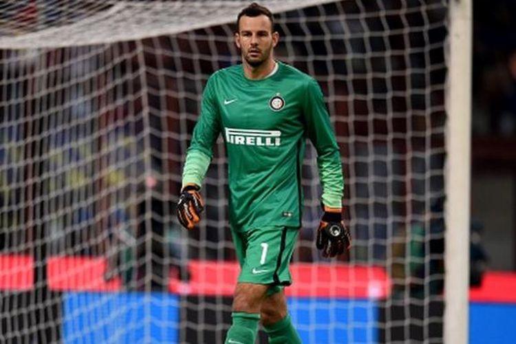 Penjaga gawang Inter Milan, Samir Handanovic.