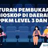 INFOGRAFIK: Aturan Pembukaan Bioskop di Daerah PPKM Level 3 dan 2