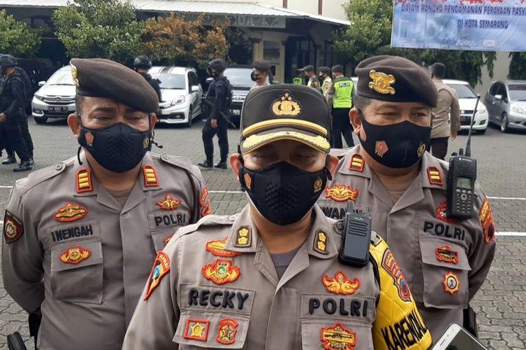 Kabag Ops Polrestabes Semarang AKBP A. Recky di Mapolrestabes Semarang, Kamis (1/4/2021).