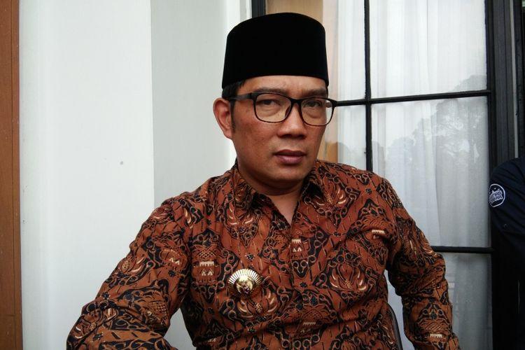 Gubernur Jawa Barat Ridwan Kamil saat ditemui di Gedung DPRD Jabar, Jalan Diponegoro, Kamis (20/12/2018).