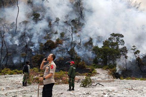 BNPB Berencana Gunakan Bom Air untuk Pemadaman di Kawah Putih