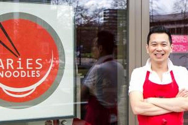 Aries Tjahjadi, pemilik Aries Noodles di Amsterdam, Belanda.