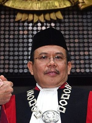 Wakil Ketua MK terpilih Aswanto.