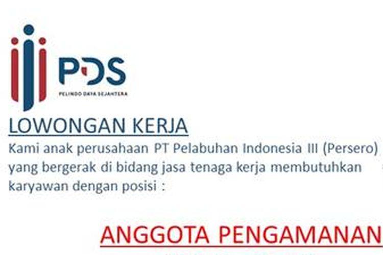 Anak Perusahaan Pt Pelindo Iii Buka 4 Lowongan Bagi Lulusan Sma Dan S1 Halaman All Kompas Com